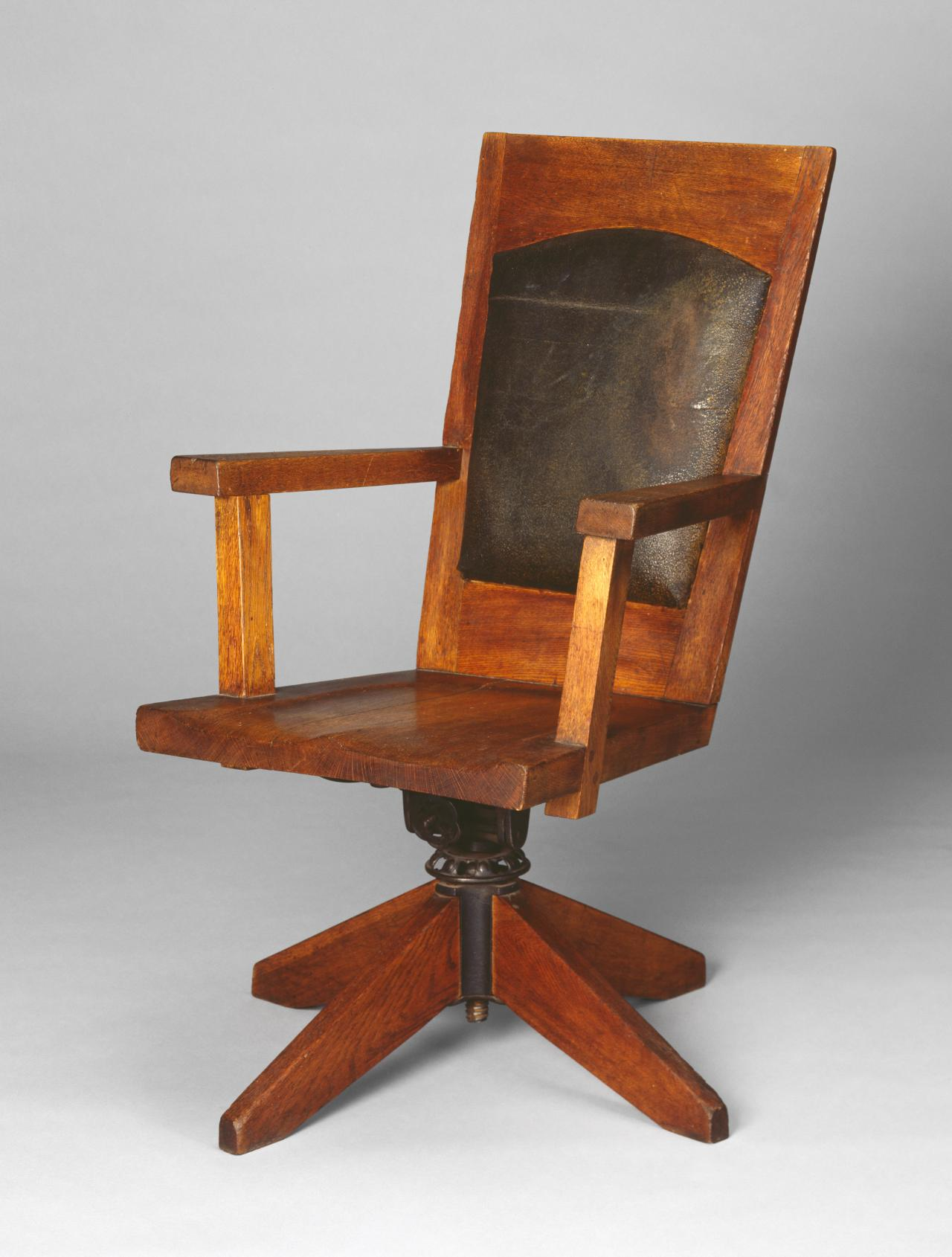 Suite of furniture from Newman College, University of Melbourne: swivel desk chair