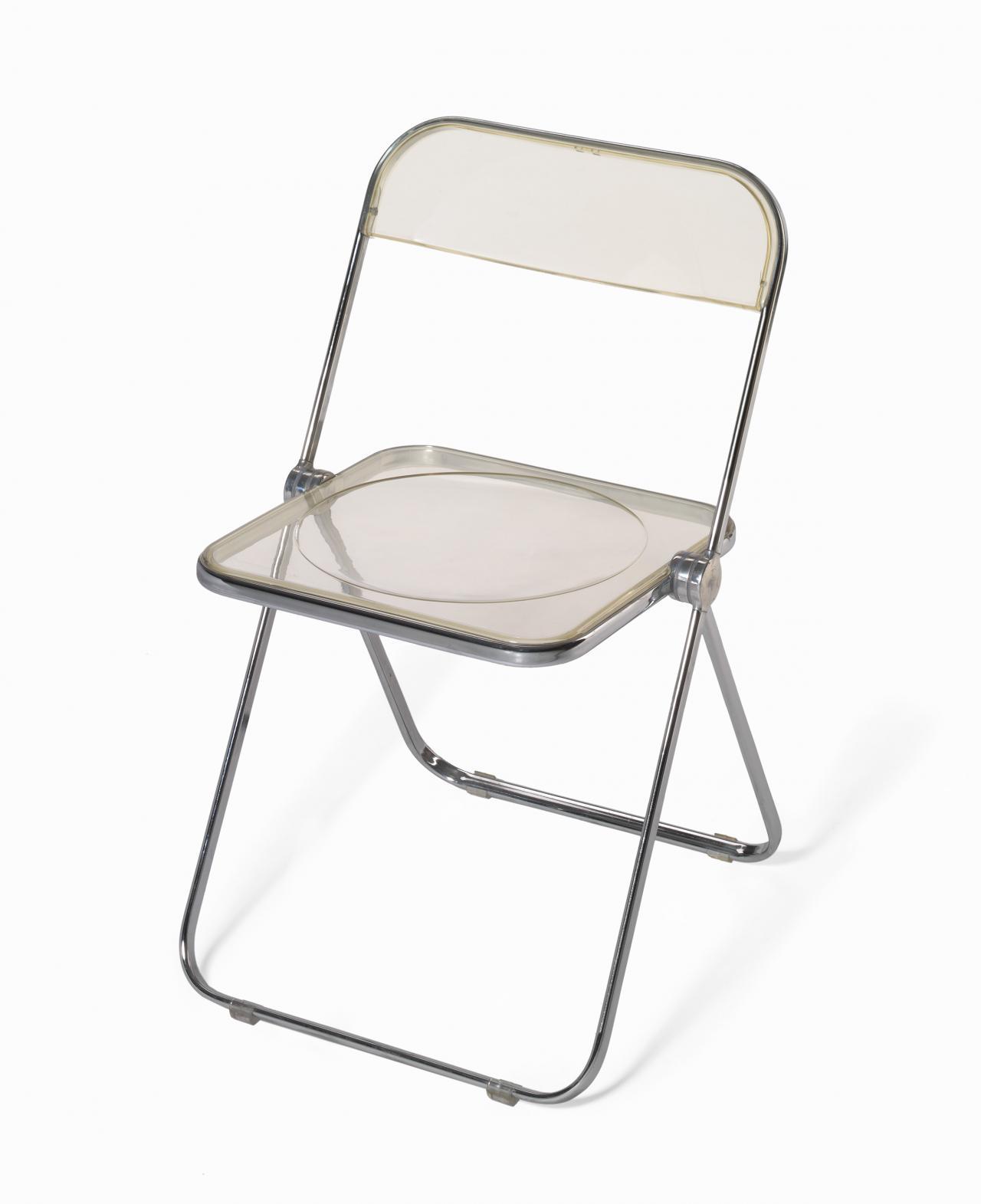 Giancarlo Piretti Design.Plia Folding Chair Giancarlo Piretti Designer Anonima