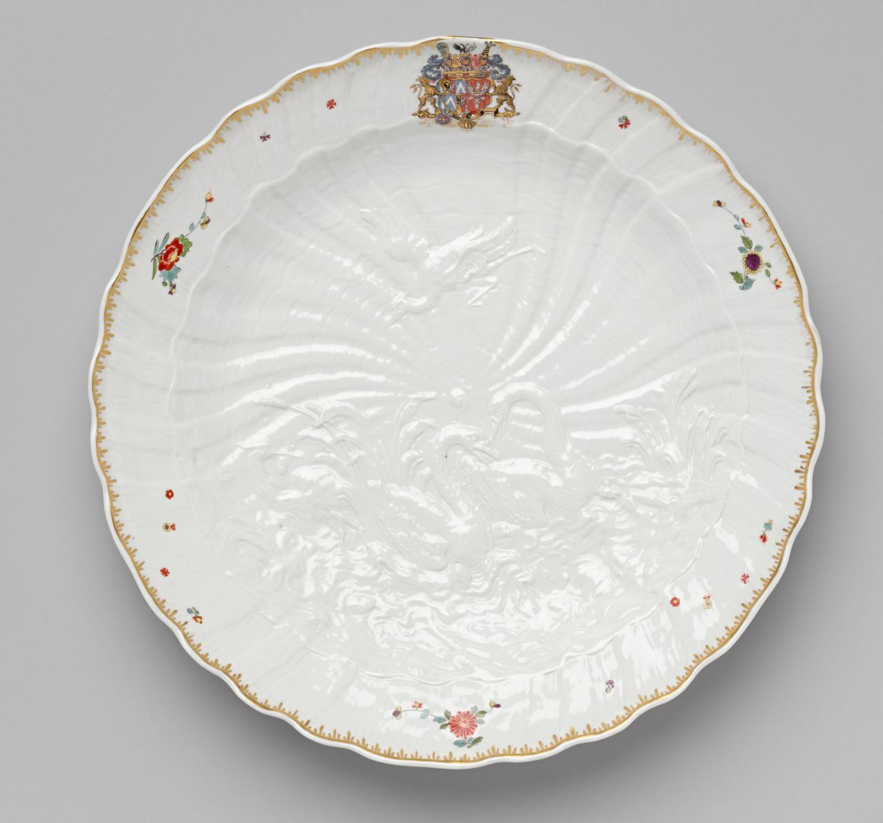 Dish from the Swan service  MEISSEN PORCELAIN FACTORY, Meissen