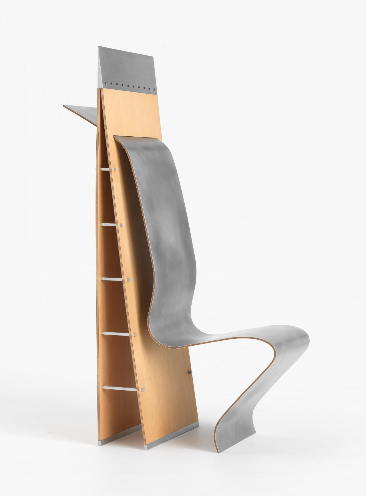 Timber and aluminium chair