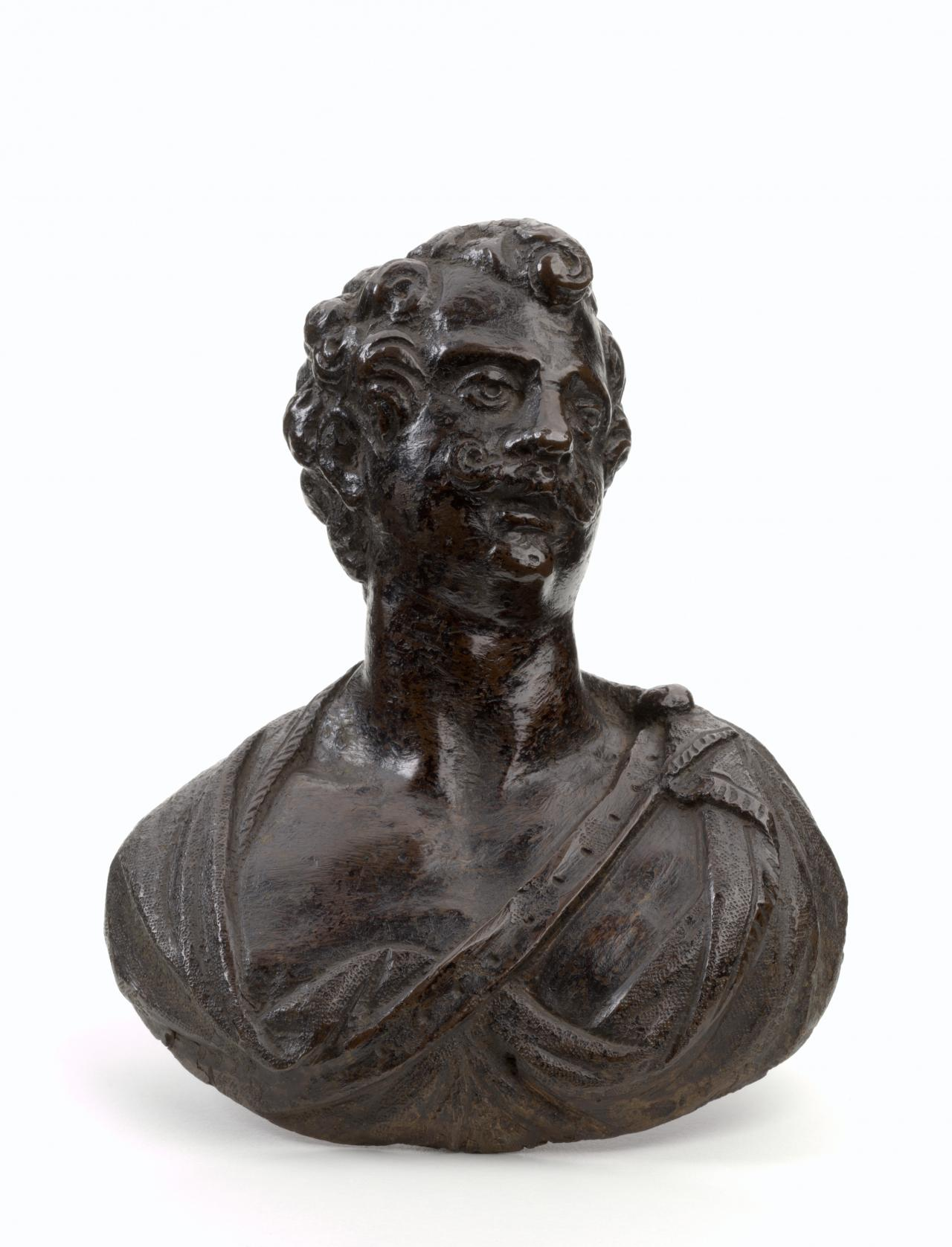 Bust of a man, door boss