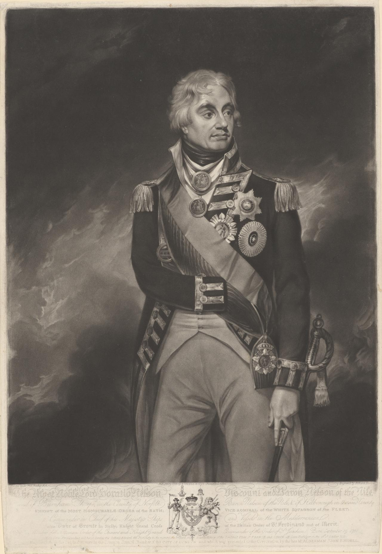 The Most nobel Lord Horatio Nelson, Viscount and Baron of the Nile