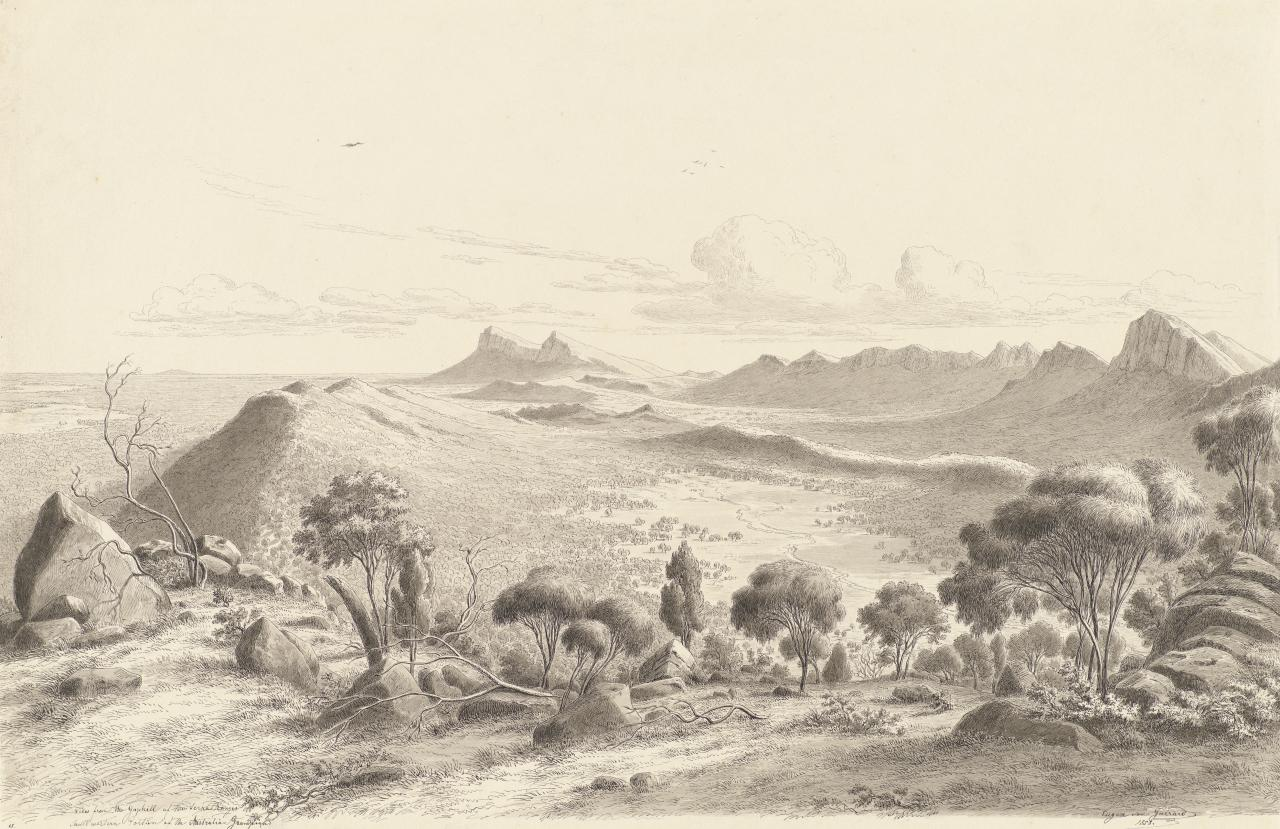 View from the Gaphill of the Serra Ranges. South western portion of the Australian Grampians
