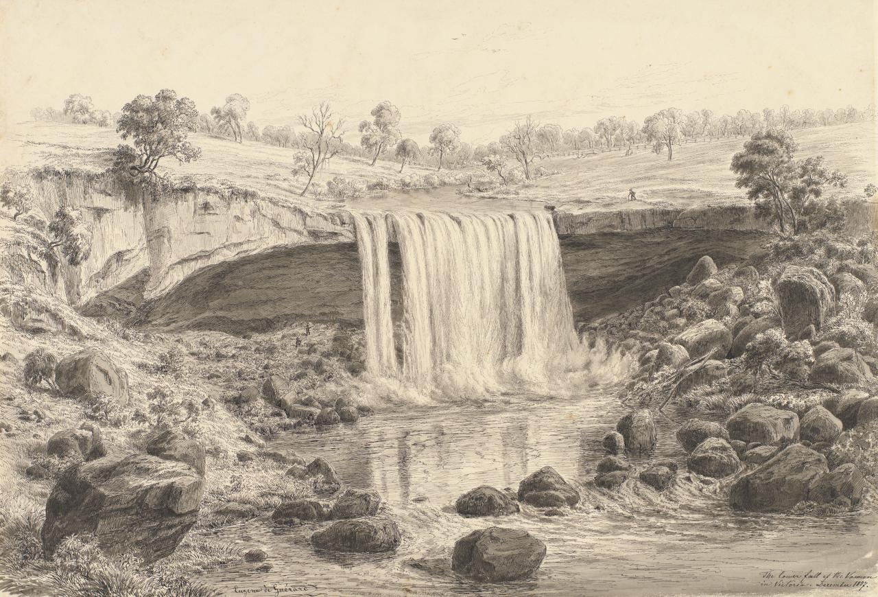 The lower fall of the Wannon in Victoria