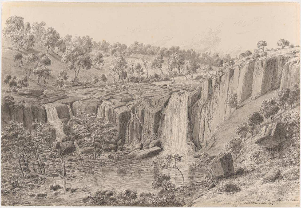 The Upper Wannon Falls on Kennedy's Station in Victoria