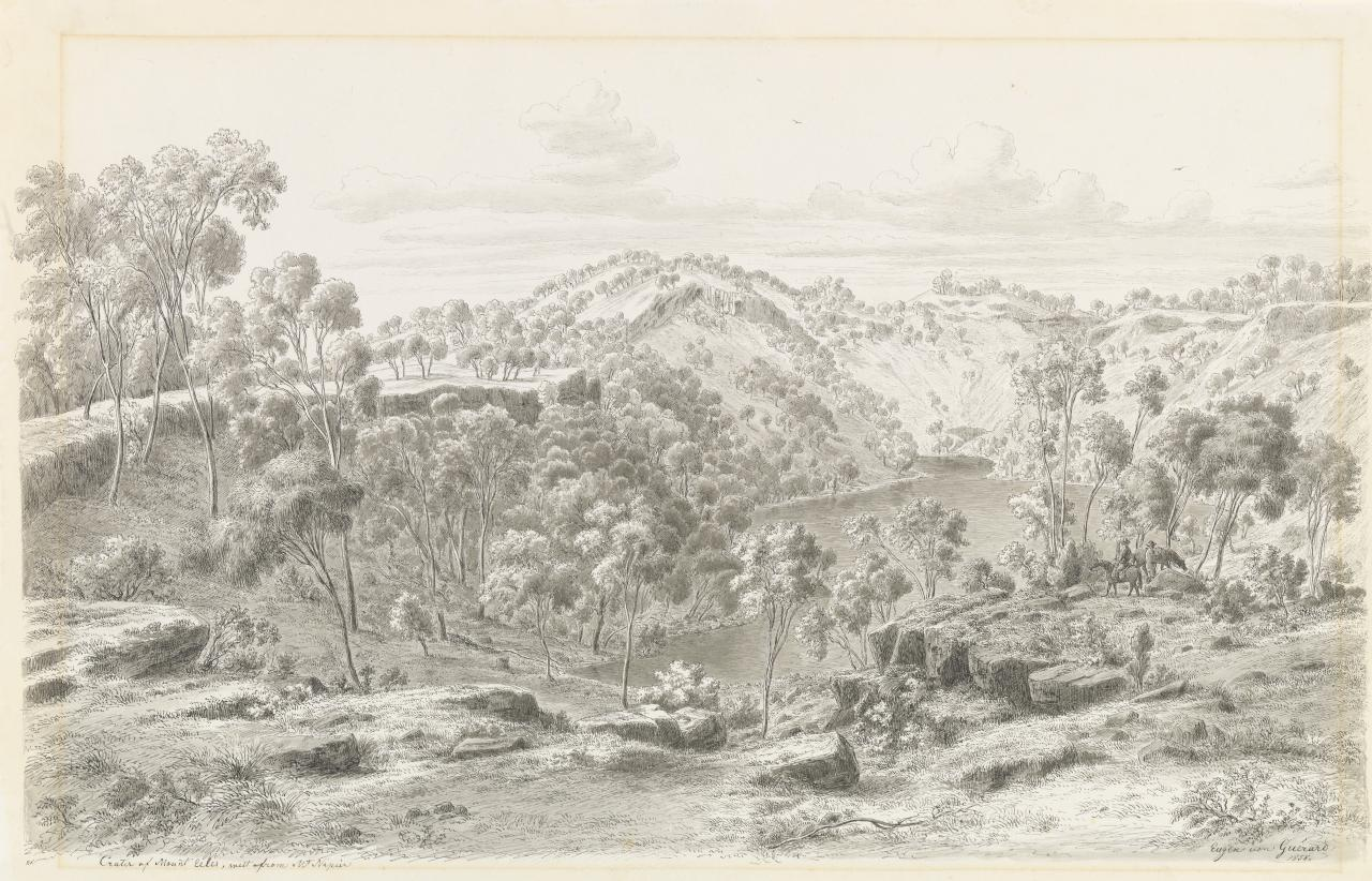 Crater of Mount Eccles, West from Mount Napier