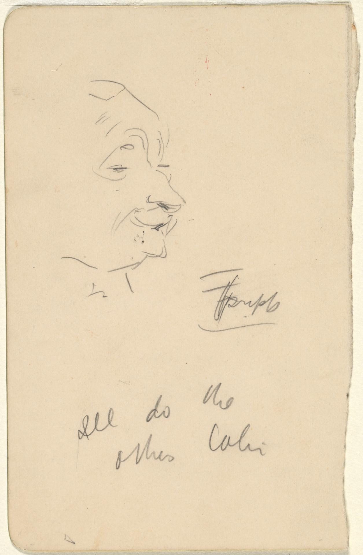 (Sketch of man's face II)
