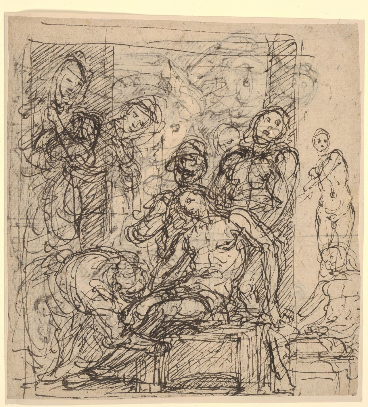 Study for the burial of St Sebastian