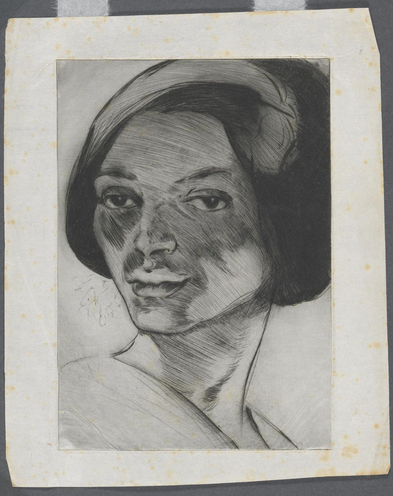 (Untitled) (Portrait head of a woman)