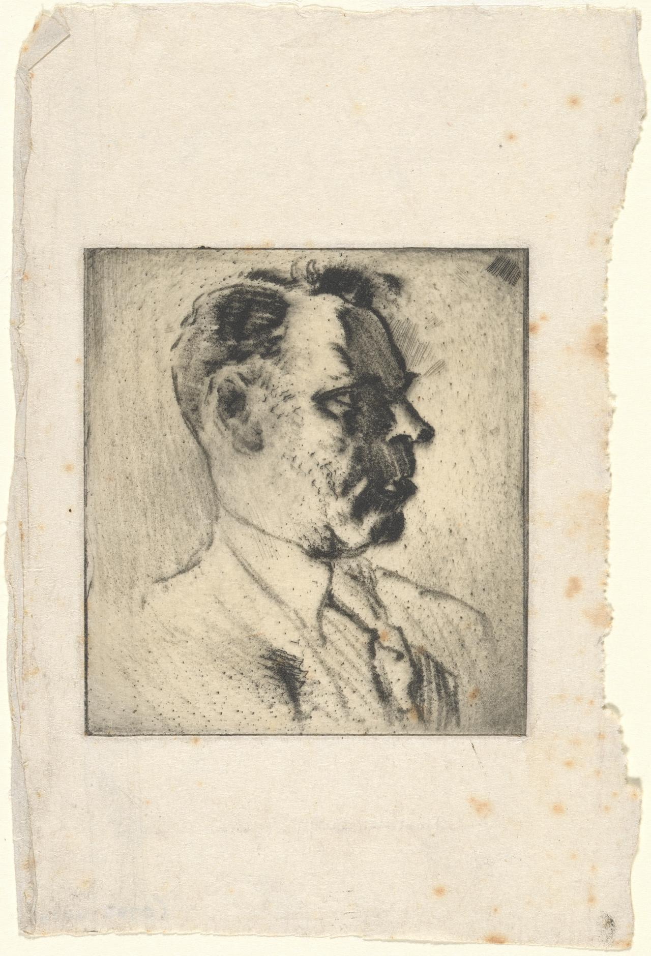 (Untitled) (Profile of a man's head)