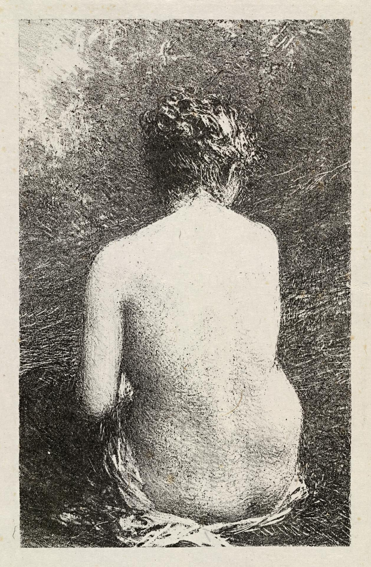 Female bather. Study from the back