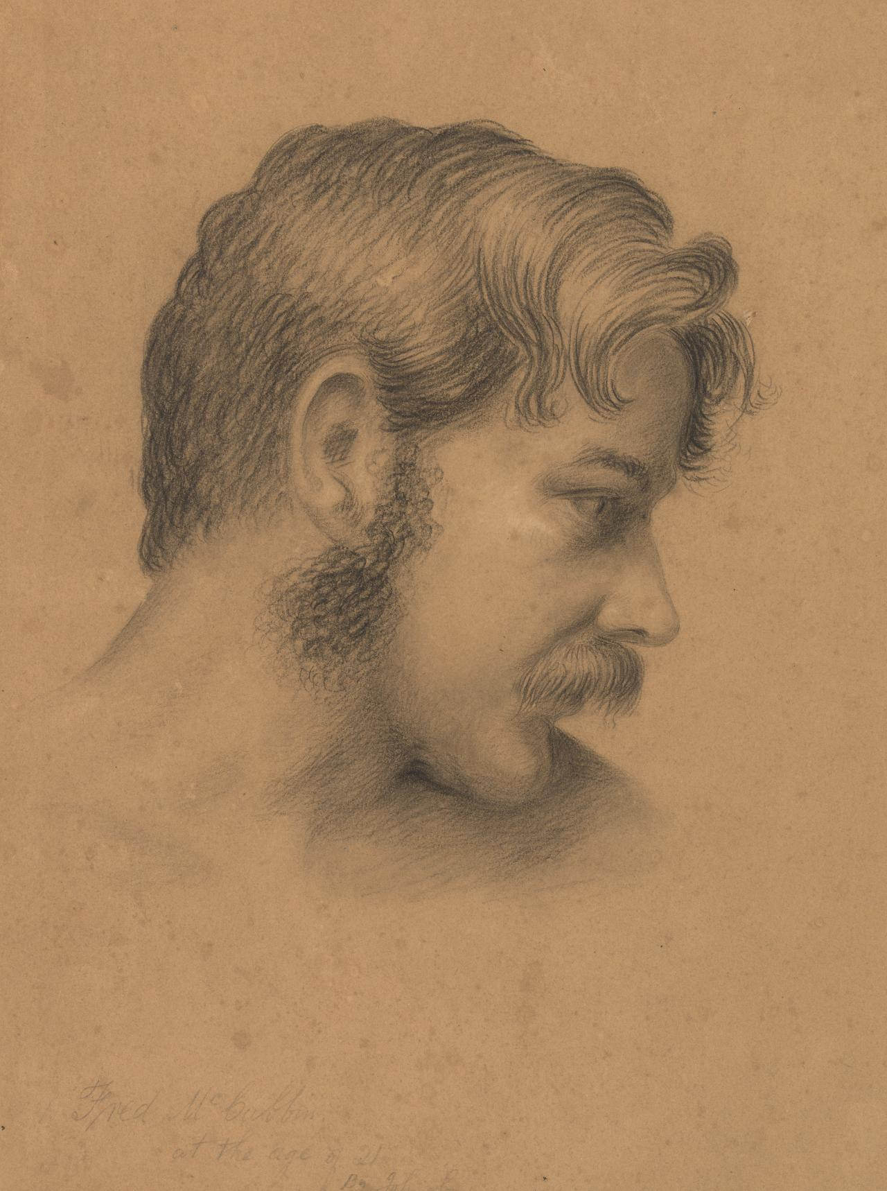 Frederick McCubbin, at the age of twenty-one