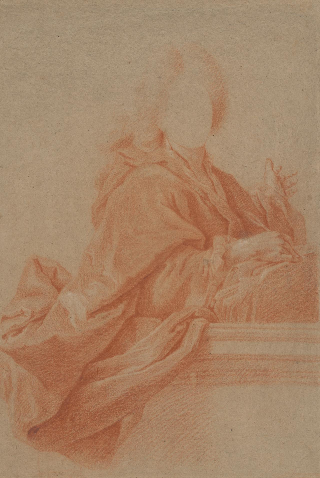 Study for the portrait of a man in academic robes
