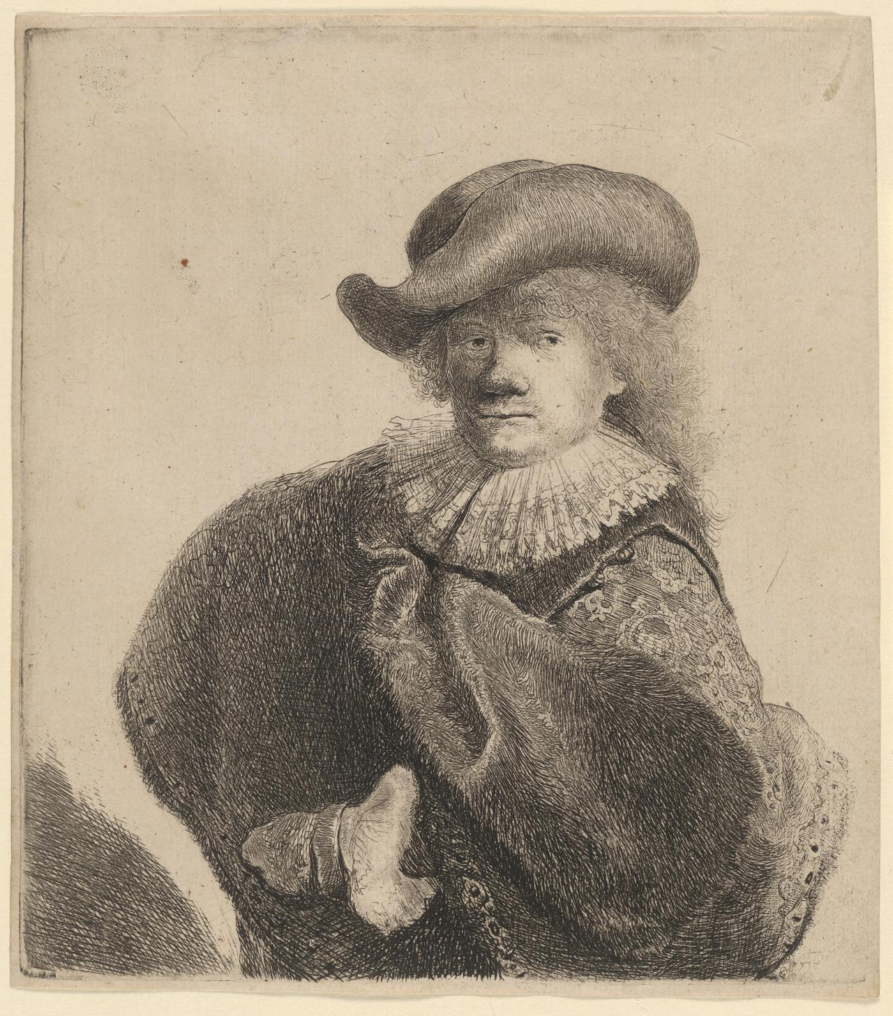 Rembrandt Wearing a Soft Hat, Cocked