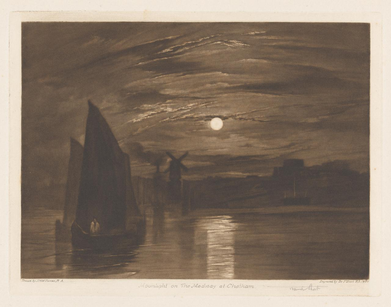 Moonlight on the Medway at Chatham