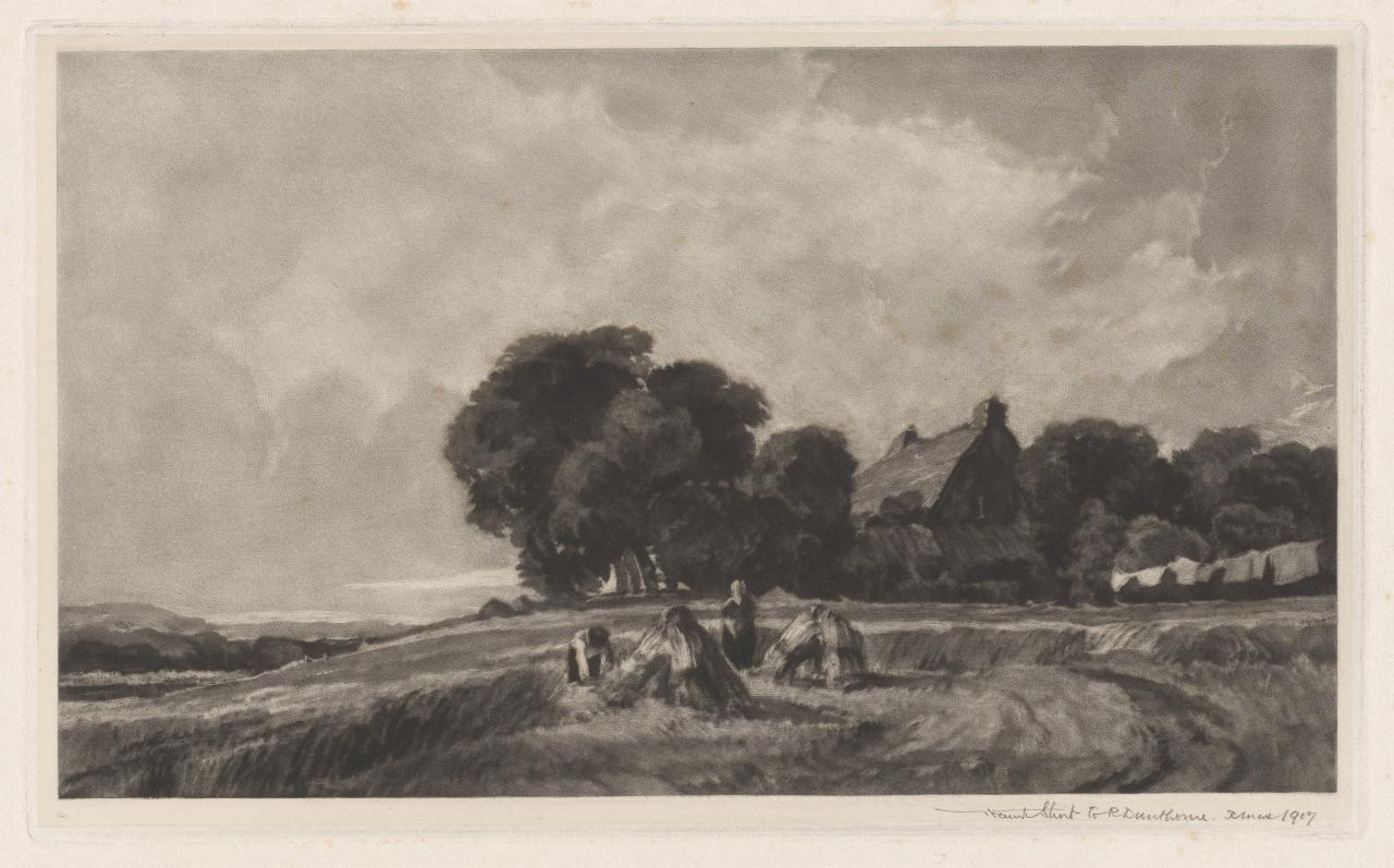 Cottage and harvesters