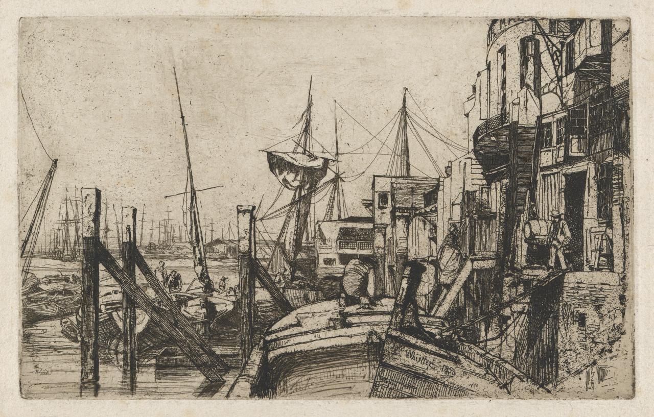 Limehouse (Sixteen Etchings of Scenes on the Thames)(No.12)