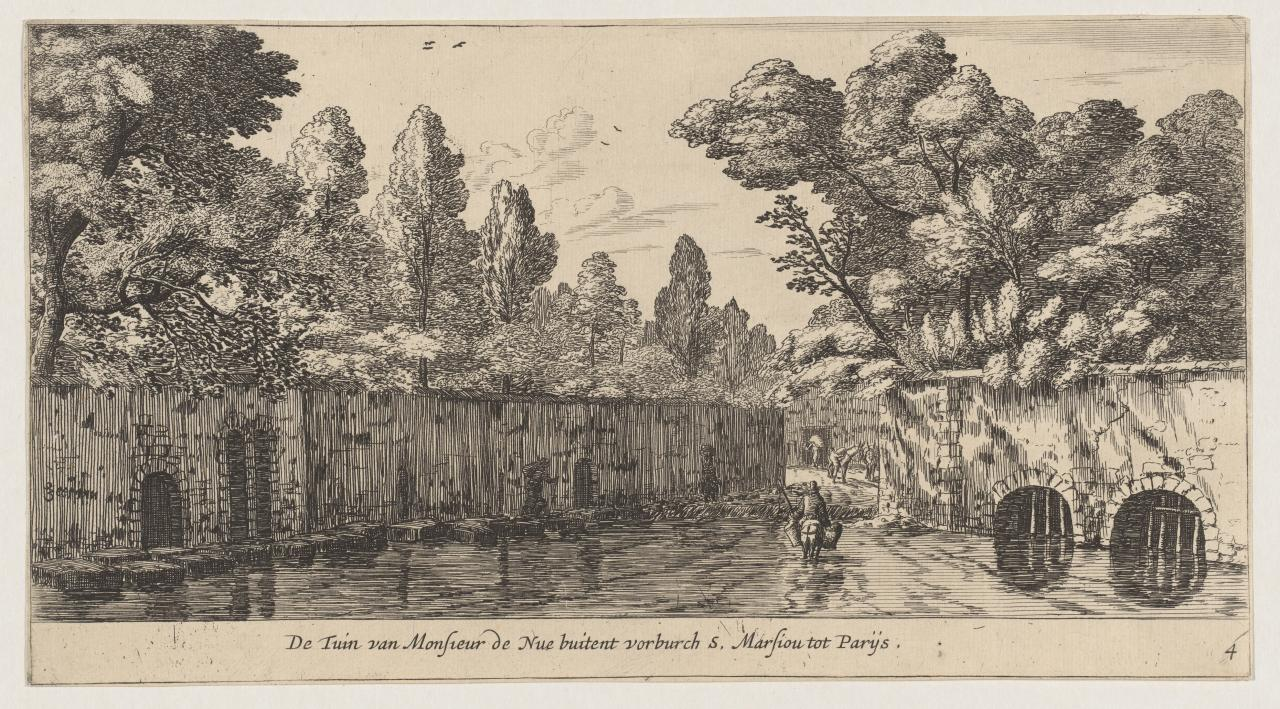 The garden of M. de Nue outside the suburb of Saint Marceau near Paris