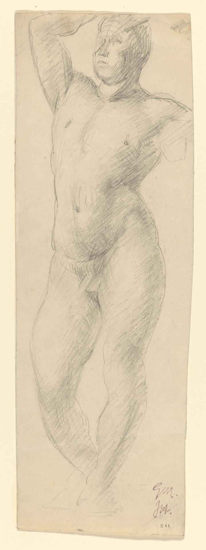 Nude study - standing male