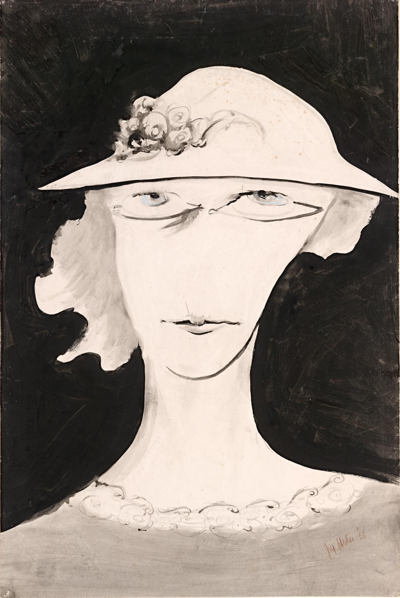 (Untitled) (Head of a woman with hat)