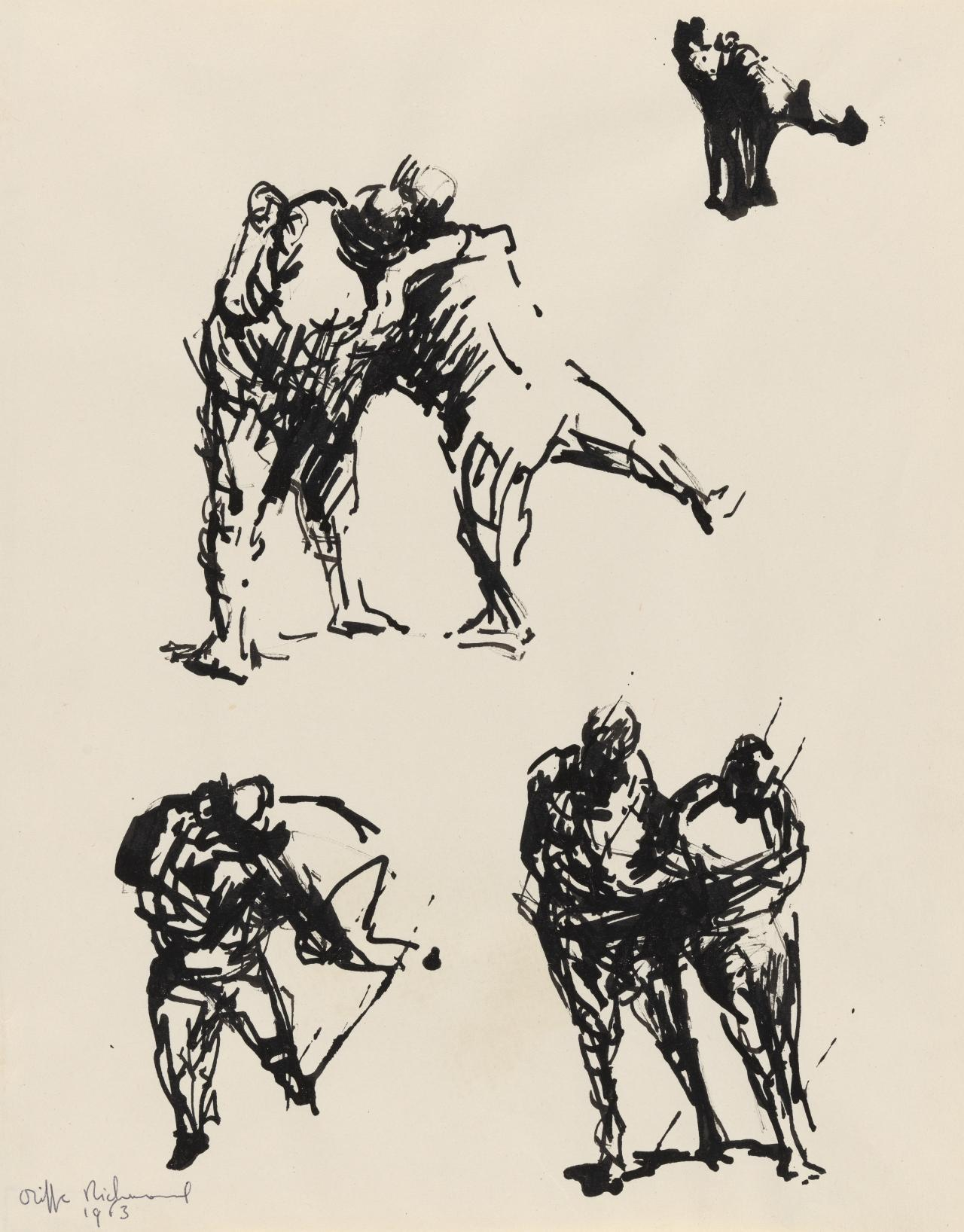 Studies for sculpture - human figures