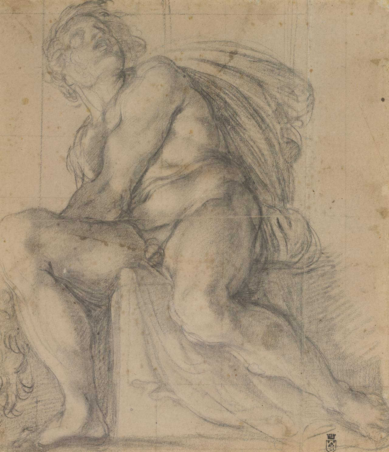 Study for an ignudo