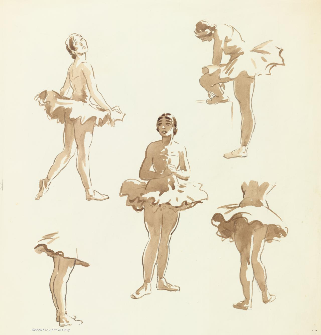 Five studies of dancers