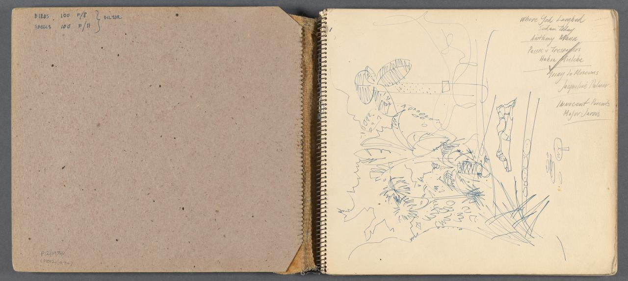 Sketchbook - Portland, 2 drawings of Noel Learmonth's 'Storm washed wandering albatross'