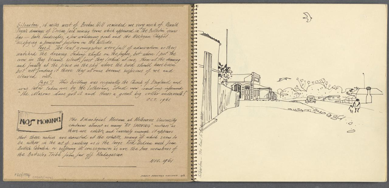 Sketchbook - Silverton, NSW, Broken Hill, Melbourne University, Museum