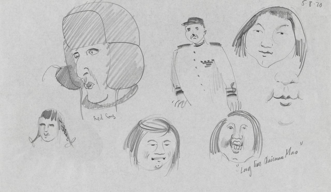 TV drawing: Long Live Chairman Mao