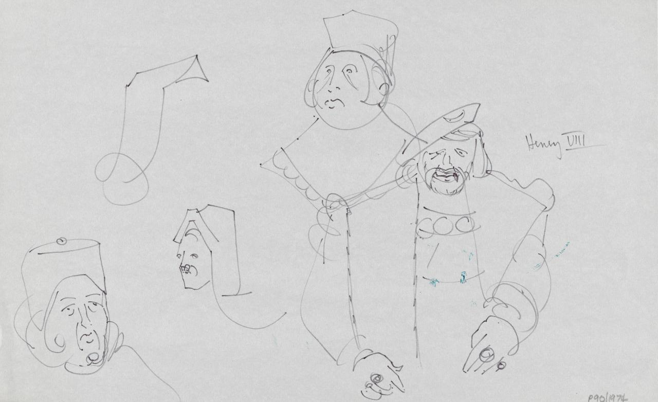 TV drawing: Henry VIII; (Regal figures)