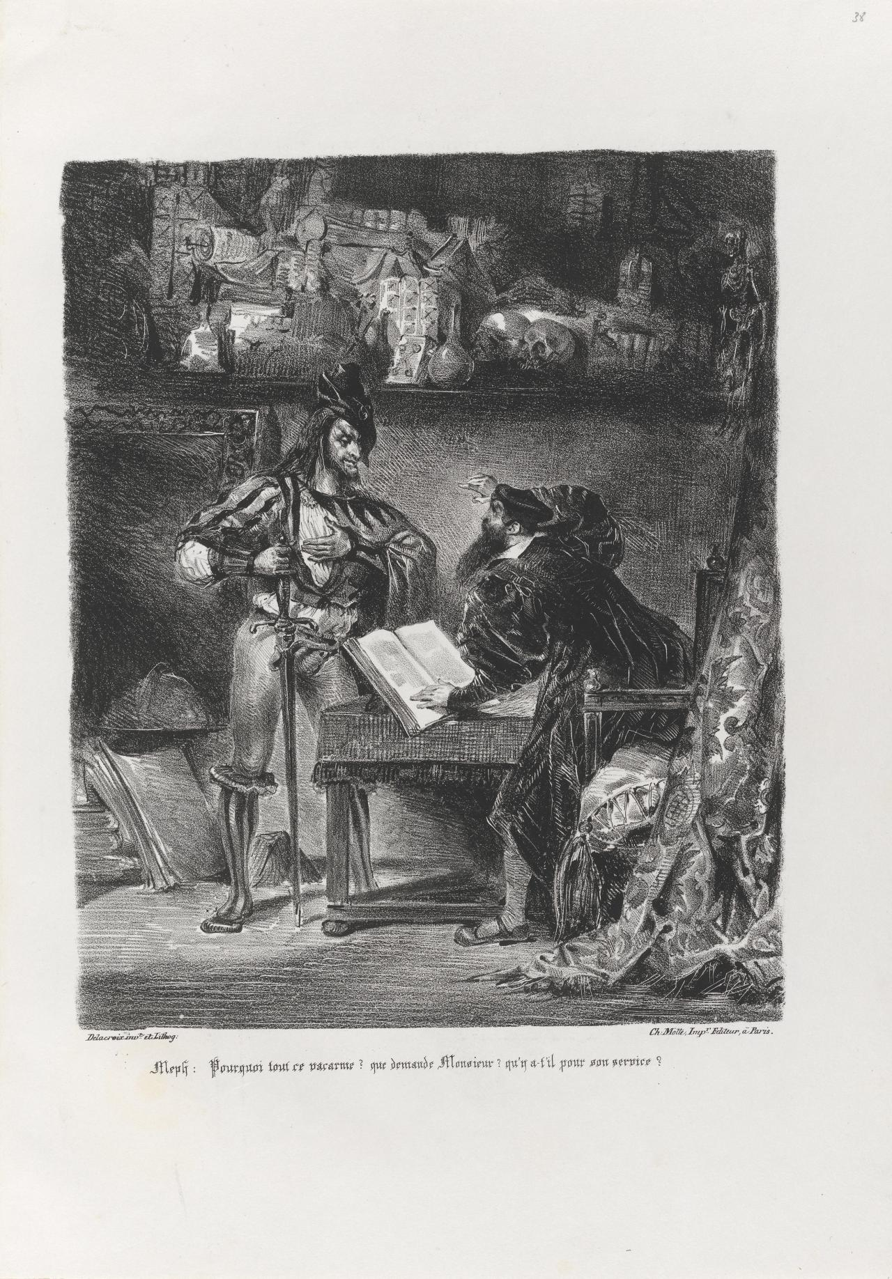 Mephistopheles appearing to Faust