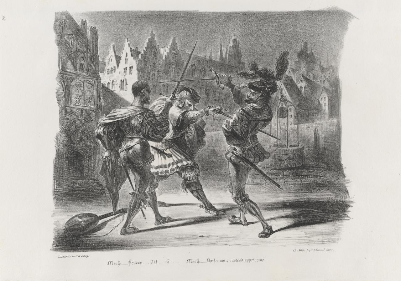 Duel between Faust and Valentin
