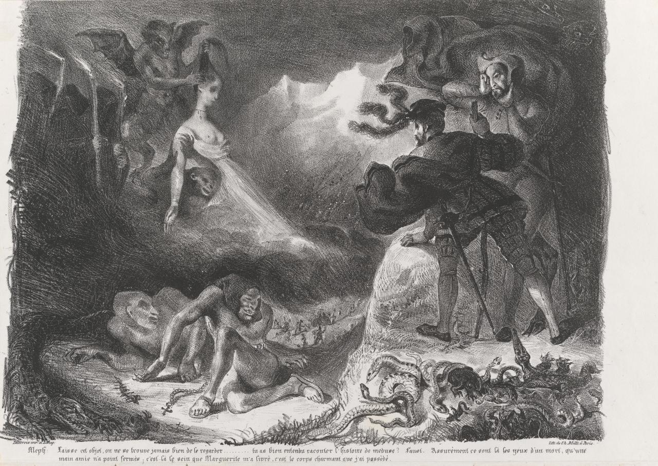 Marguerite's ghost appearing to Faust