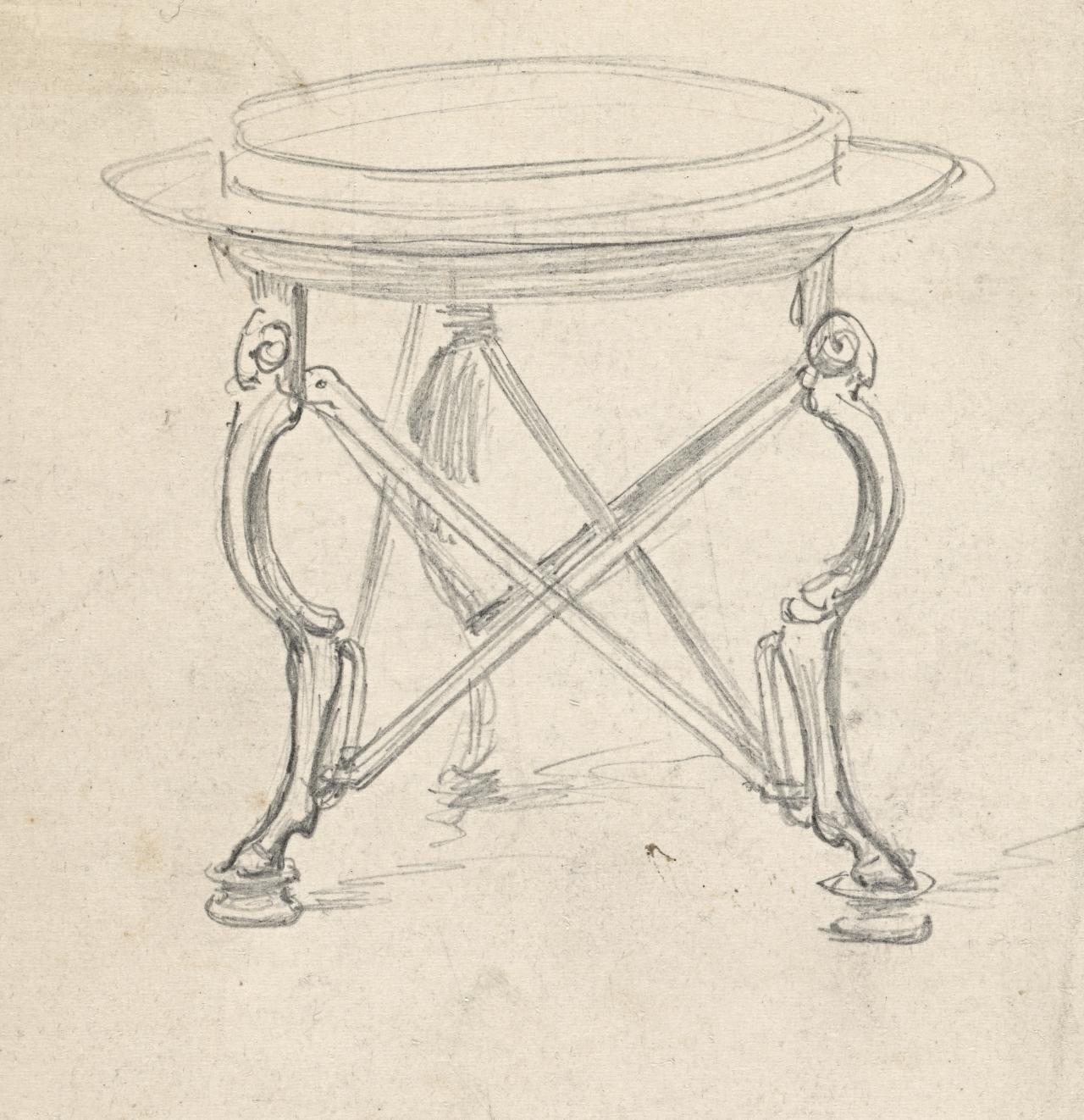 Sketch of tripod table for Sleep