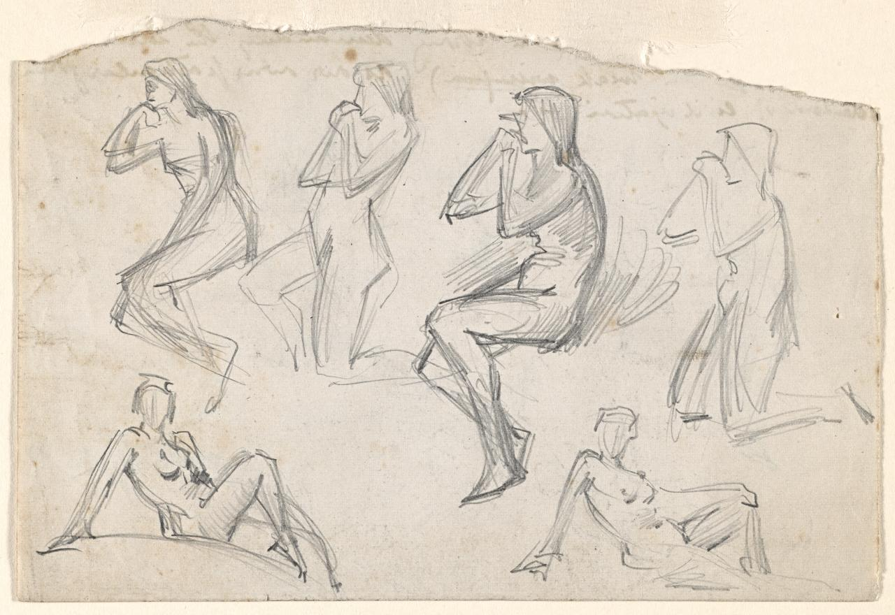 Six nude figures in various poses