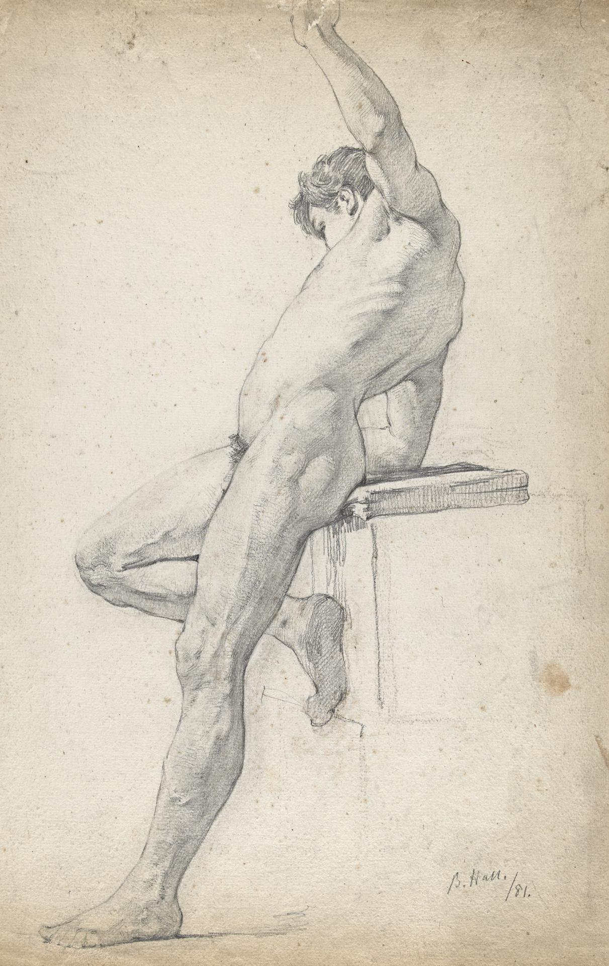 Life study of male figure