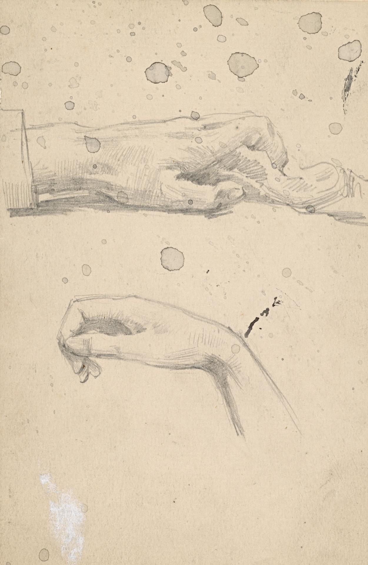 Two studies of a hand