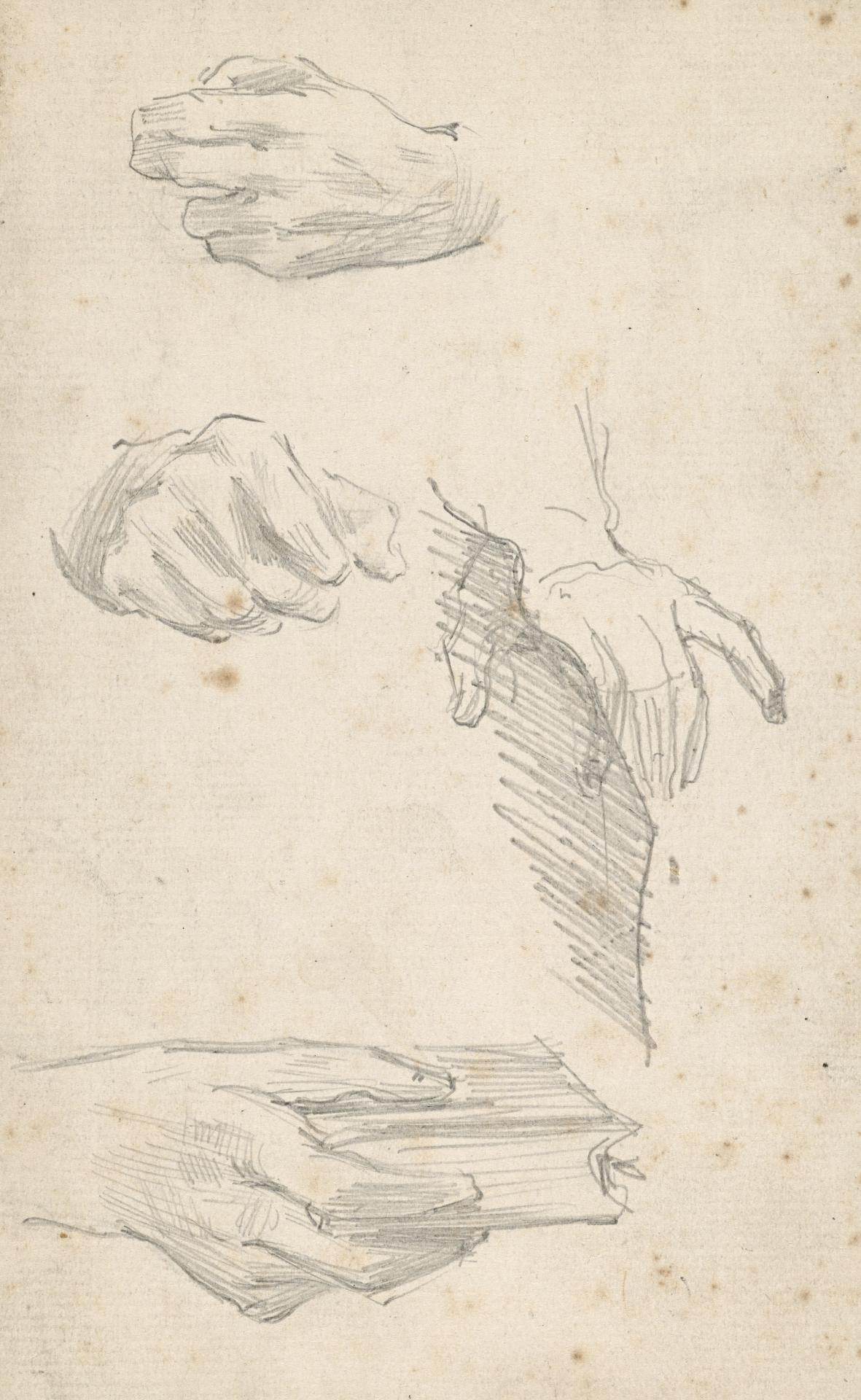 Four studies of hands