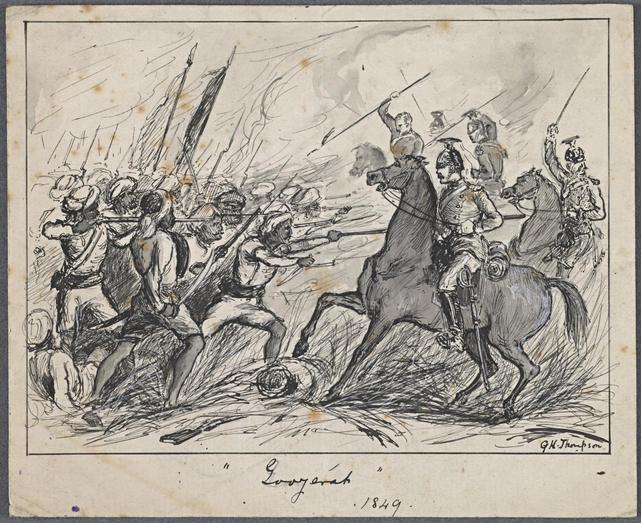 Sketch of battle (After G.H.Thompson)