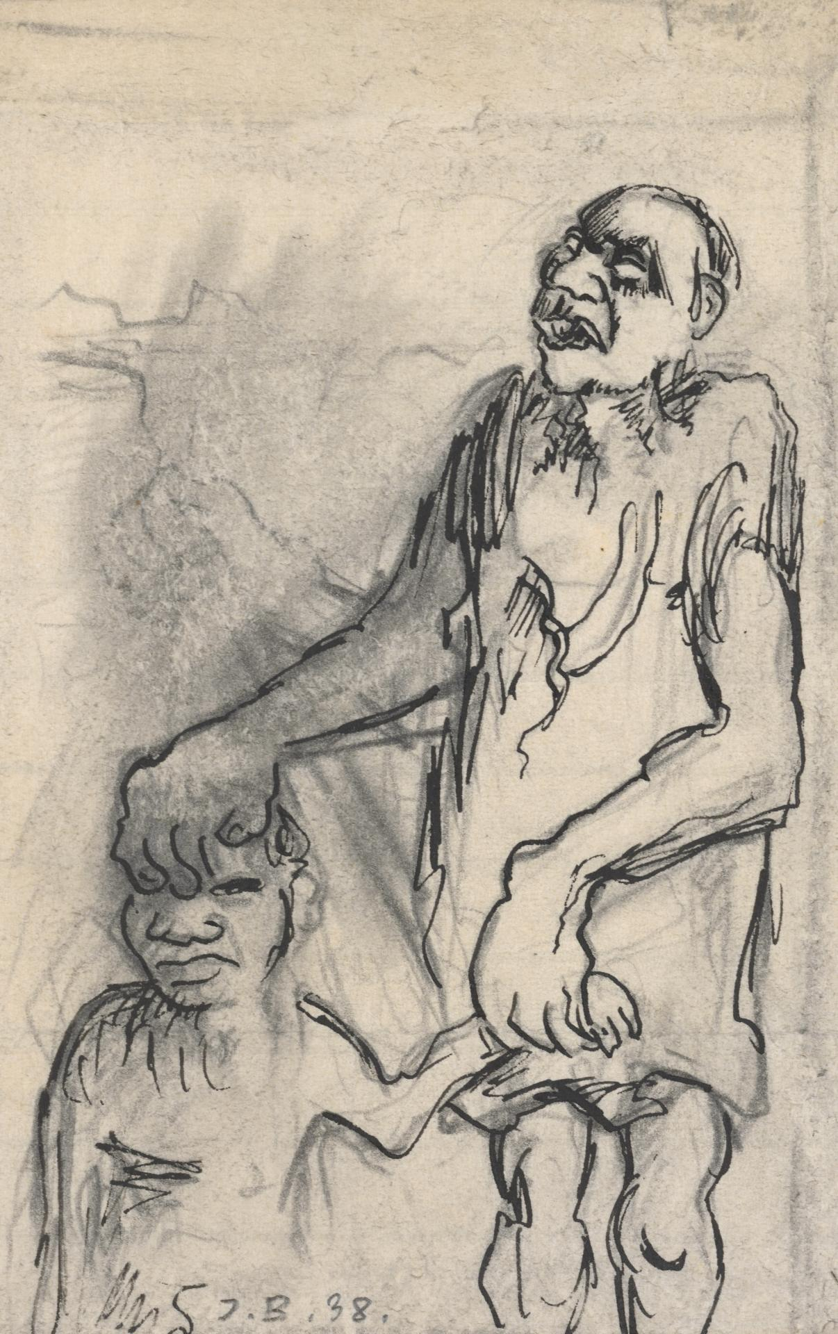 Aboriginal man and child
