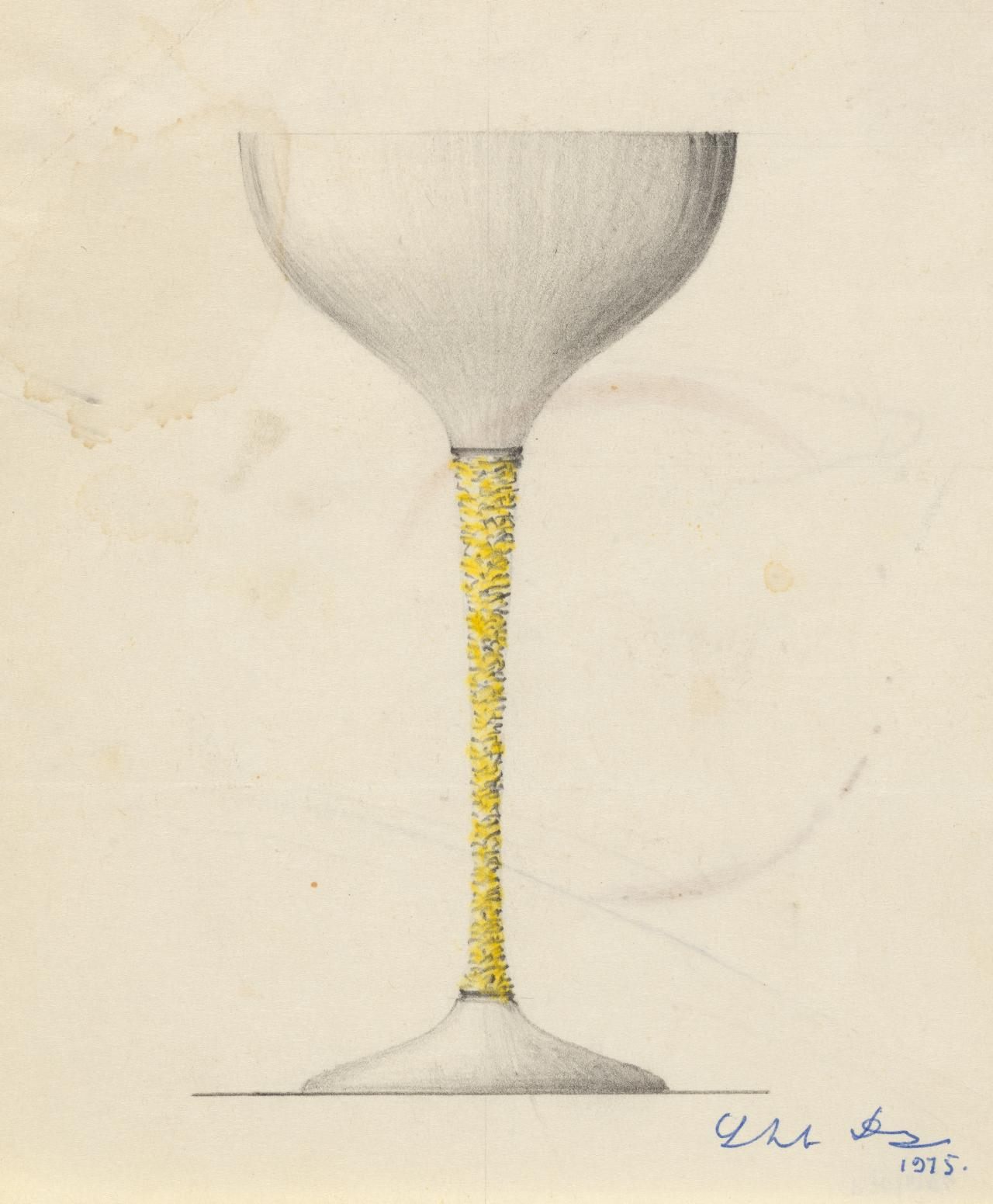 Study for a Crocus goblet