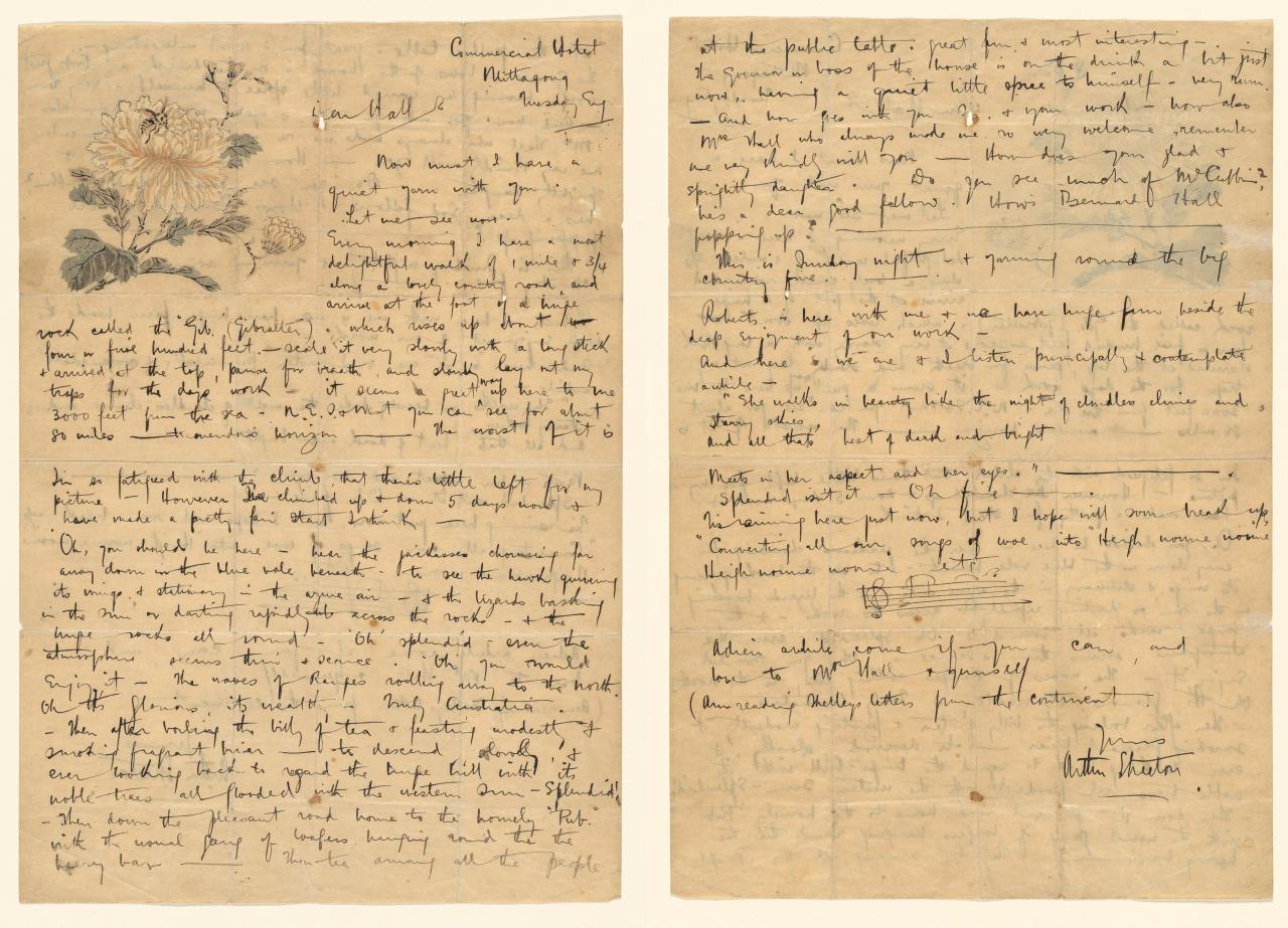 Letter to Marshall Hall, November 1892
