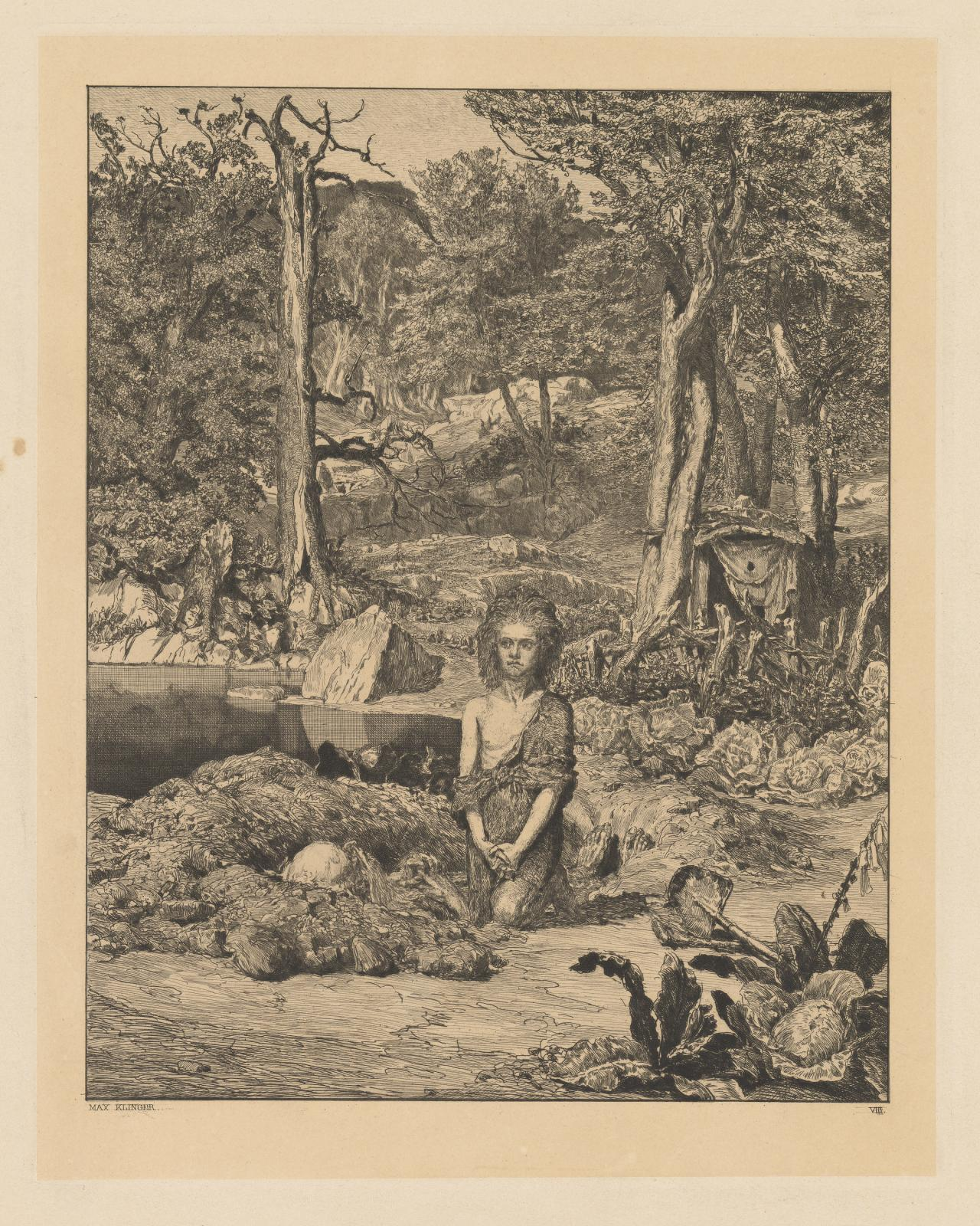 Simplicius at the hermit's Grave (Internezzi Plate 8)