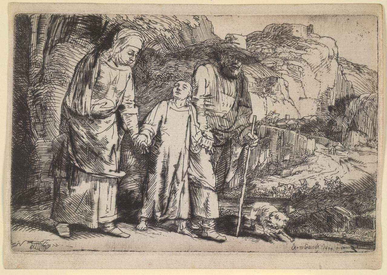 Christ Between his Parents, Returning from the Temple