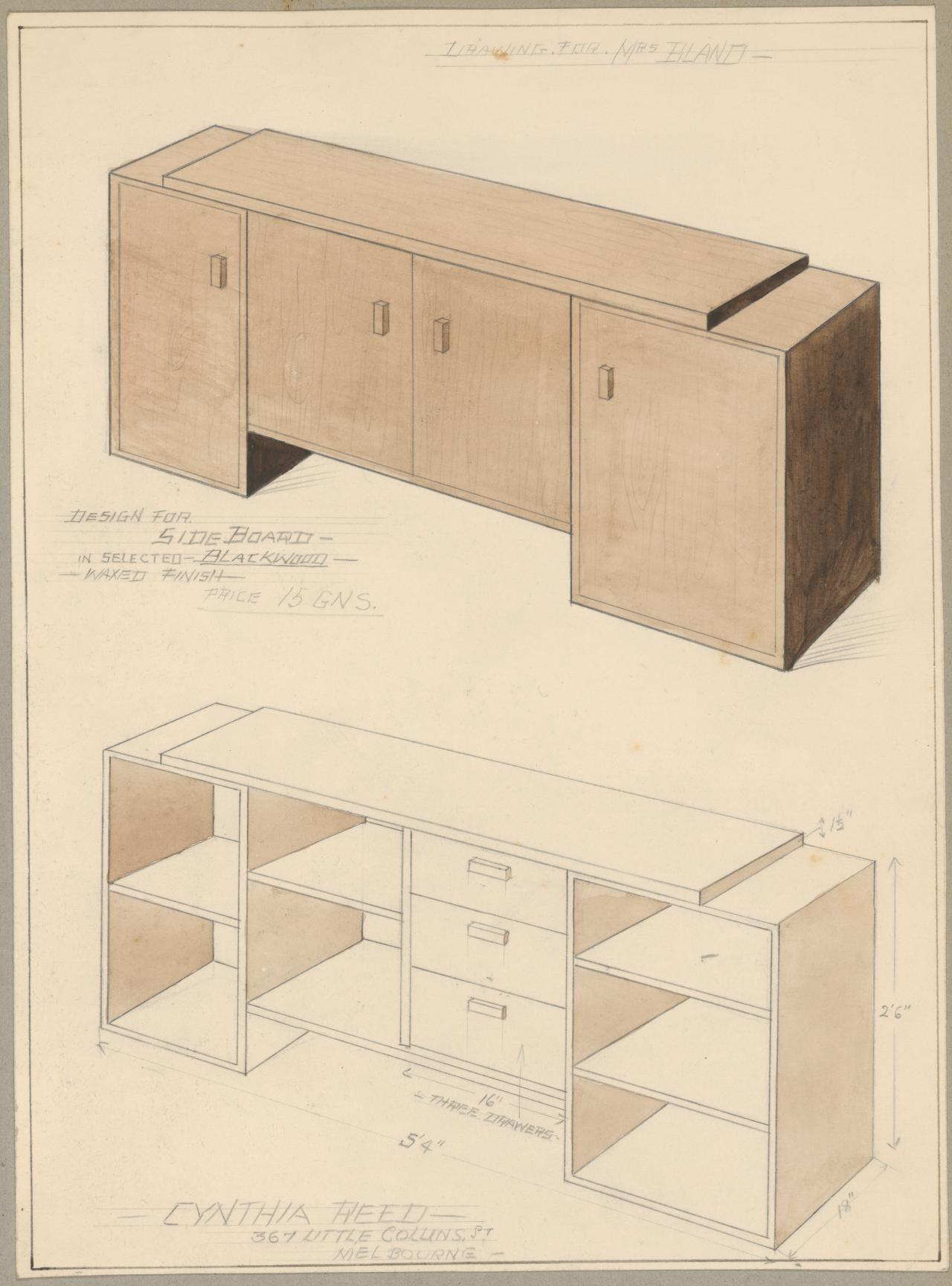 Album of designs: sideboards and cupboards