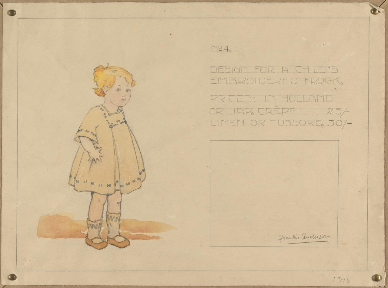 Design for a child's embroidered frock