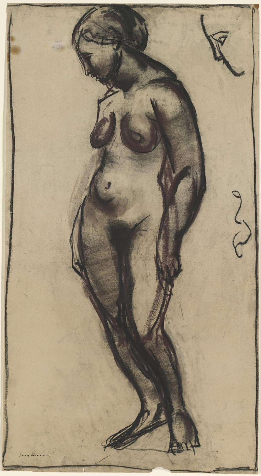 Standing nude (recto and verso)