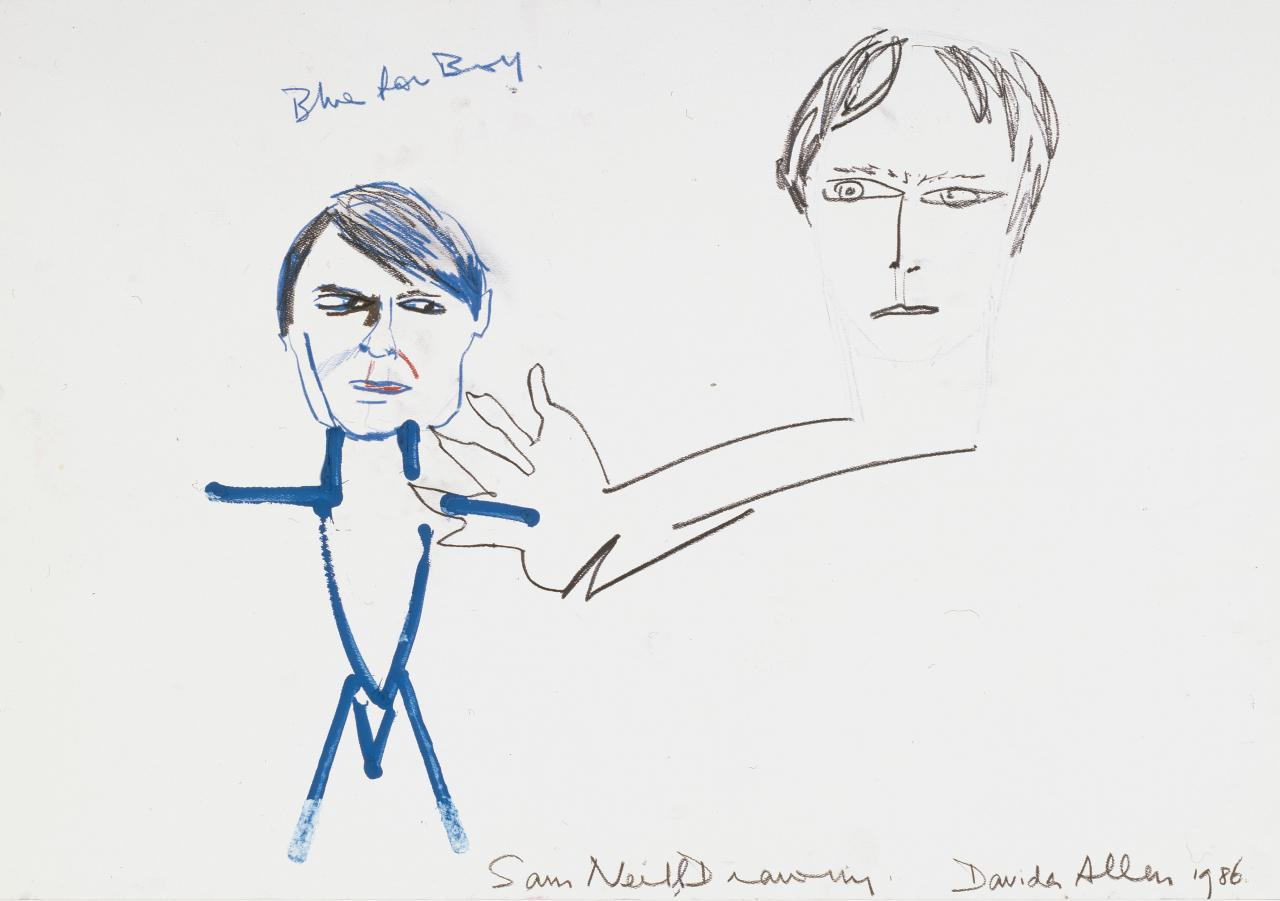 Sam Neill drawing (Blue for boy)