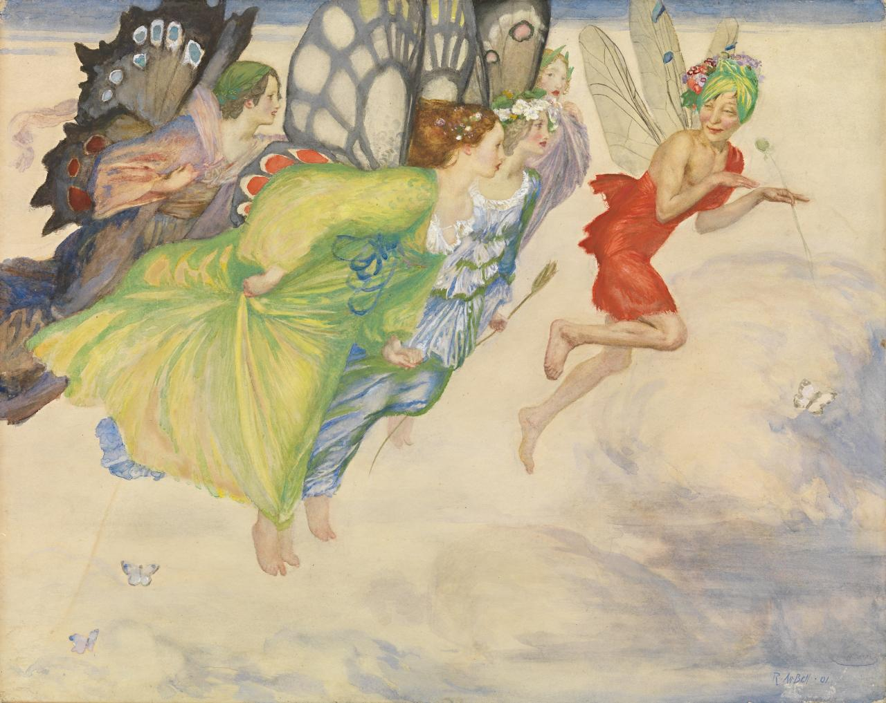 A flight of fairies